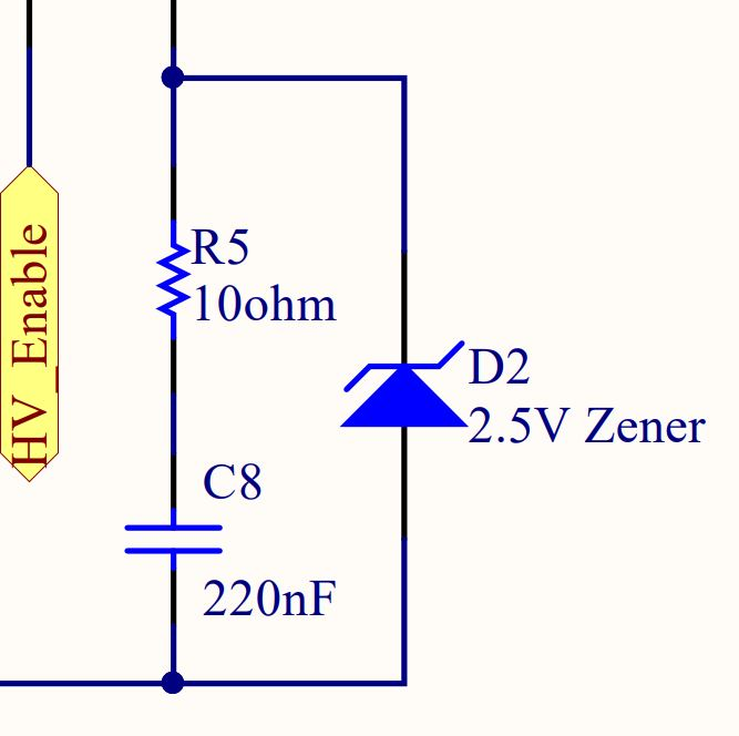 Using a zener diode to limit duy cycle