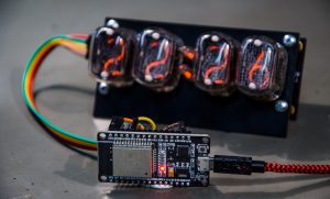 Nixie tube clock being controlled with an ESP32