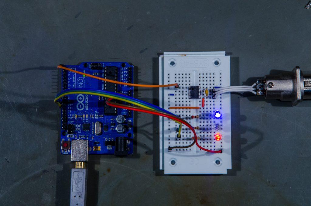 Arduino DMX RGB example