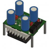 A CAD rendering of an H Bridge